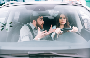 運転が下手な女性
